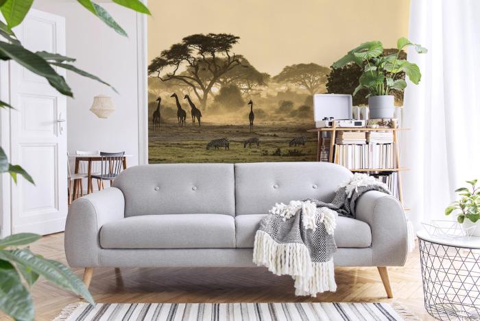 Fototapete Natur Savanne in Afrika im Wohnzimmer