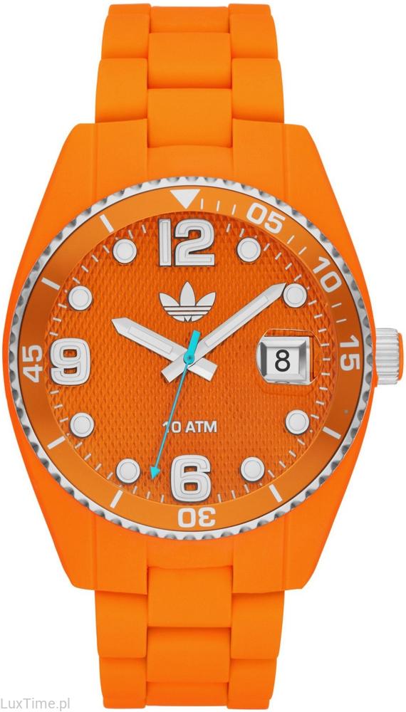 pomarańczowy zegarek ADIDAS sportowy