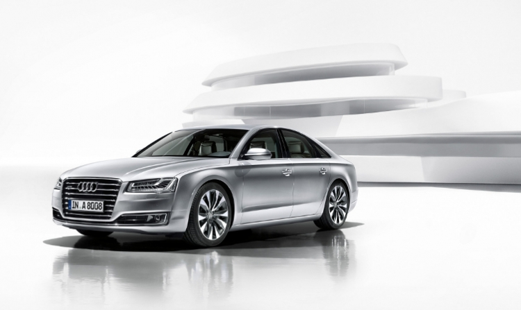 The art of leading the way. The Audi A8.